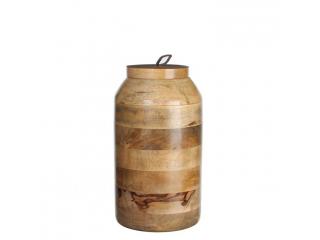 Vas decorativ cu capac ''Nina'' brown,h27*d15cm, 1 buc