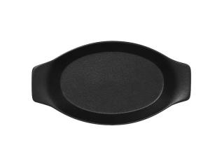"""""""Chefs fusion""""Platou oval cu doua minere t/rezistent 20cm.Black 1buc."""