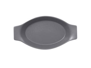 """""""Chefs fusion""""Platou oval cu doua minere t/rezistent 25cm.Gray 1buc."""