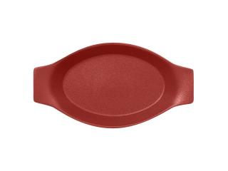 """""""Chefs fusion""""Platou oval cu doua minere t/rezistent 20cm.Dark red 1buc."""