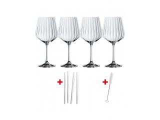 """""""Gin&Tonic"""" Set 4 pocale p/u cocktail 637 ml* 4 paie de sticla , 8 pcs"""