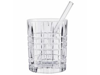 """""""Longdrink"""" Set 4 pahare 345 ml* 4 paie de sticla , 8 pcs"""
