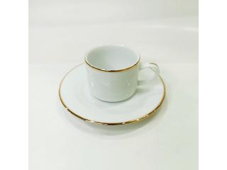 """""""Gold Line"""" Cana cafea cu farfurioara c-6,2 cm s-12,5 cm, 100 ml, 1 set."""