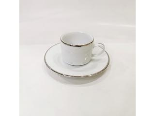 """""""Silver Line"""" Cana cafea cu farfurioara c-6,2 cm s-12,5 cm, 100 ml,  1 set."""