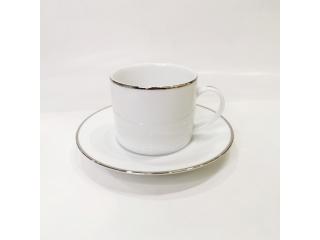"""""""Silver Line"""" Cana ceai cu farfurioara c-8,3 cm s-16,2 cm, 260 ml, 1 set."""