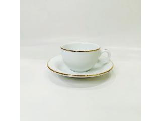 """""""Opus Gold"""" Cana p/u ceai cu farfurioara, c-9,2 cm s-15,9 cm, 1 set"""