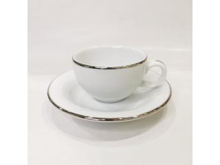 """""""Opus Platinum"""" Cana p/u ceai cu farfurioara, c-9,2 cm s-15,9 cm, 1 set"""
