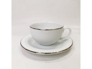 """""""Opus Platinum"""" Cana p/u ceai cu farfurioara, c-11 cm s-17,9 cm, 1 set"""