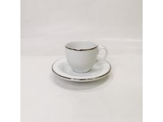 """""""Opus Platinum"""" Cana p/u cafea cu farfurioara, c-6,2cm, s-11,6 cm 1 set"""
