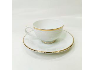 """""""Simplicity Thick Edge Gold"""" Cana cafea cu farfurioara c-7,5 cm s-13,6 cm, 2 pcs."""
