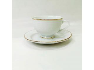 """Simplicity Thick Edge Gold"" Cana ceai cu farfurioara 253 ml, C-9.5 cm, S-15.2 cm, 2 pcs."