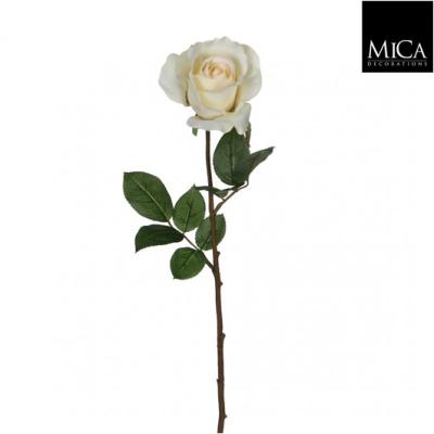 "Floare artificiala ""Rose velvet"" cream, 77cm, 1 buc, Flori si coronite artificiale ,"